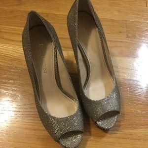 Enzo Angiolini gold glitter heels